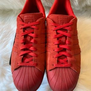 Adidas leather and suede sneakers